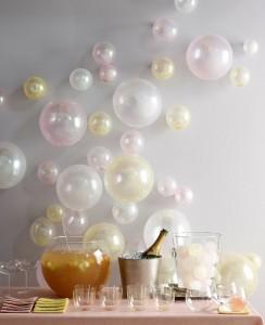 decorazioni per le feste con i palloncini color pastello