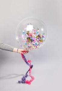 decorazioni per le feste con i palloncini con coriandoli