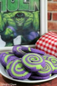 festa di compleanno degli avengers_biscotti di hulk