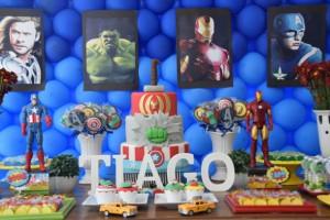 festa di compleanno degli avengers_buffet