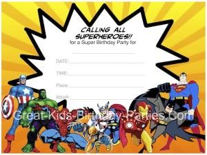 festa di compleanno degli avengers_inviti supereroi