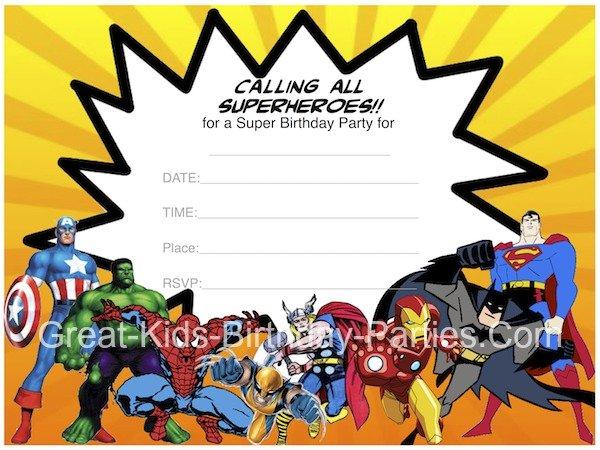 Festa Di Compleanno Degli Avengers