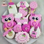 biscotti per battesimo bambina gufetto
