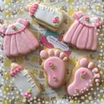Biscotti decorati battesimo bambina_vestitino