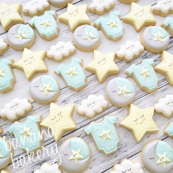 Biscotti decorati battesimo bambino_stelline-luna