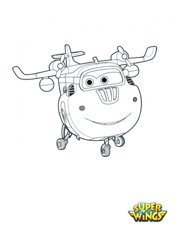 Disegni da colorare dei super wings donnie for Disegni da colorare super wings