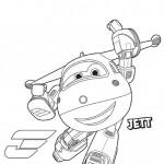 Disegni da colorare dei Super wings_Jett 3