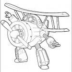Disegni da colorare dei Super wings_zuzu