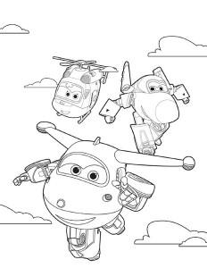 Disegni da colorare dei super wings_ gruppo