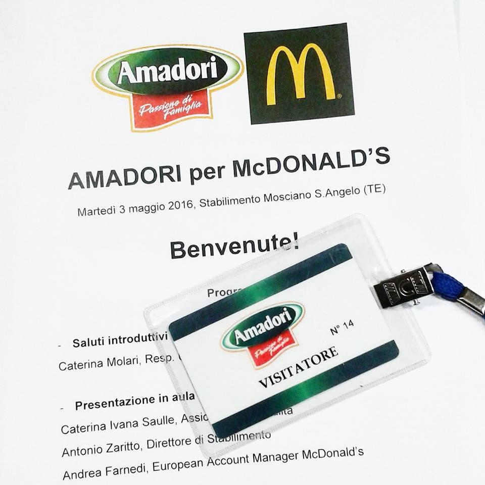 mcnuggets visita Amadori