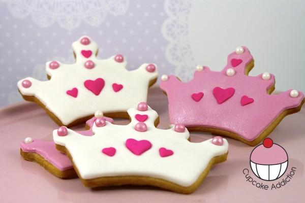 biscotti decorati per regalini fine festa_corona da principessa