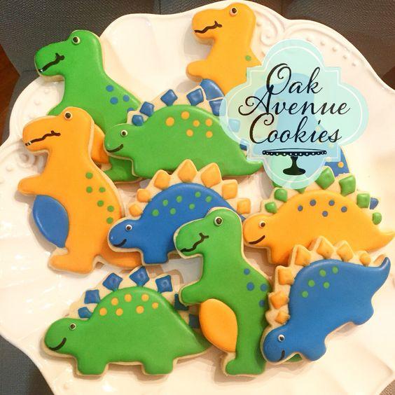biscotti decorati per regalini fine festa_dinosauri