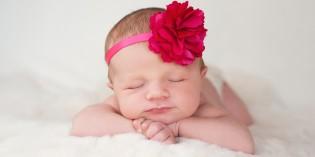 Fascia per capelli neonata, idee per battesimo e cerimonie