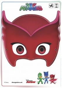festa a tema PJ Masks_maschera Gufetta