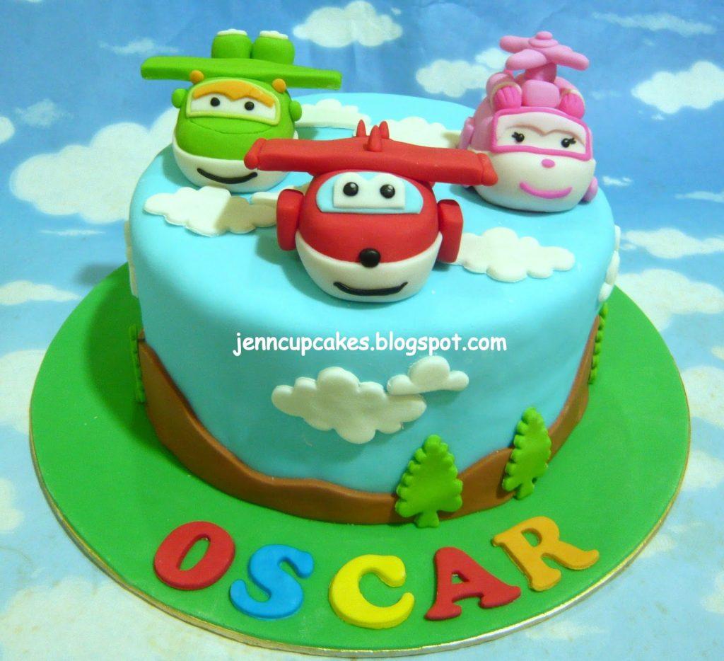 torte di compleanno dei super wings pasta di zucchero 3d