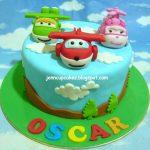 torte di compleanno dei Super Wings_pasta di zucchero 3d