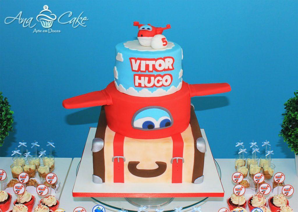 Torte Di Compleanno Dei Super Wings A Piani Con Valigia