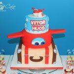 torte di compleanno dei Super wings_a piani con valigia