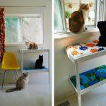 Come riciclare un fasciatoio per neonati_cuccia per gatti