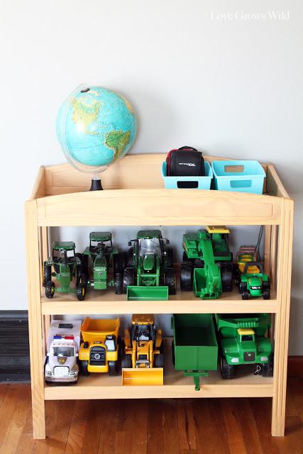 Come riciclare un fasciatoio per neonati_porta giocattoli