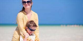 La mamma adottiva in vacanza