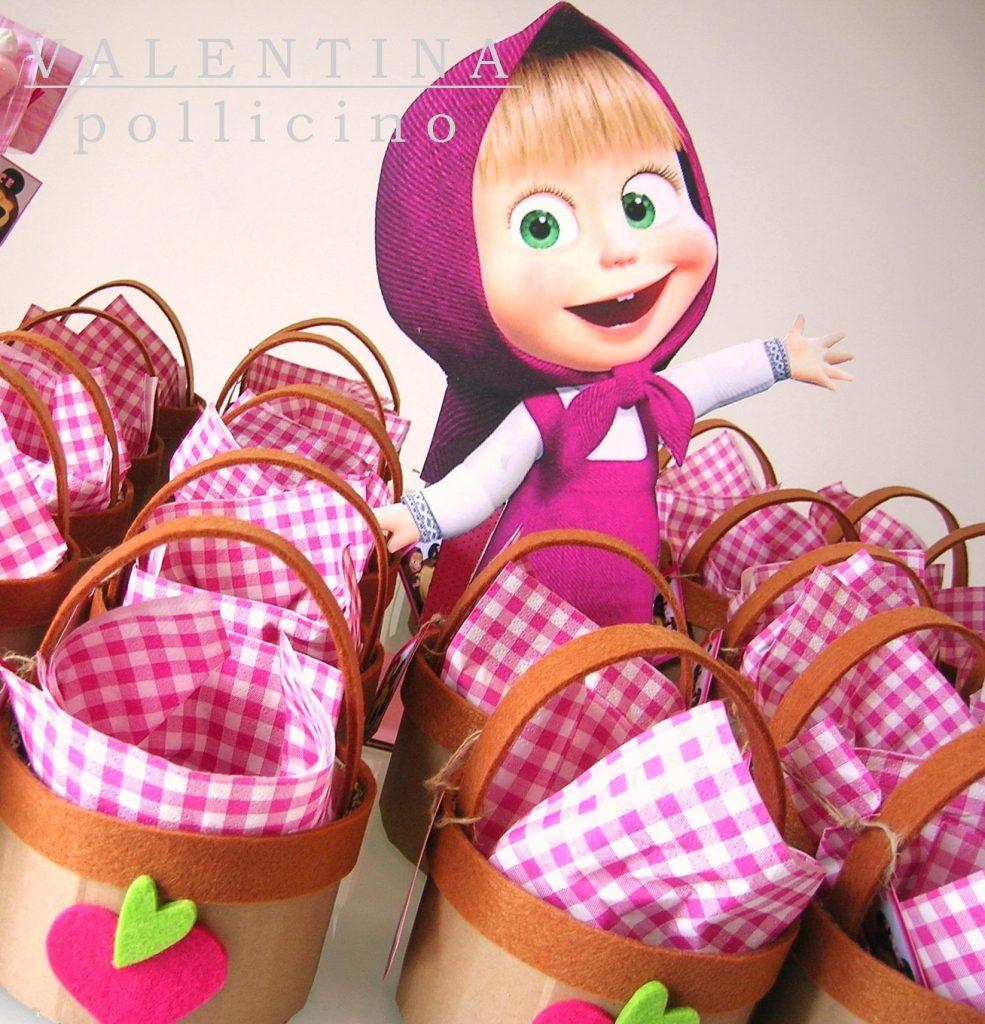 regalini fine festa di Masha e Orso_cestini per frutta