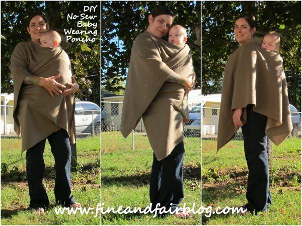poncho fai da te per autunno mamma bebe