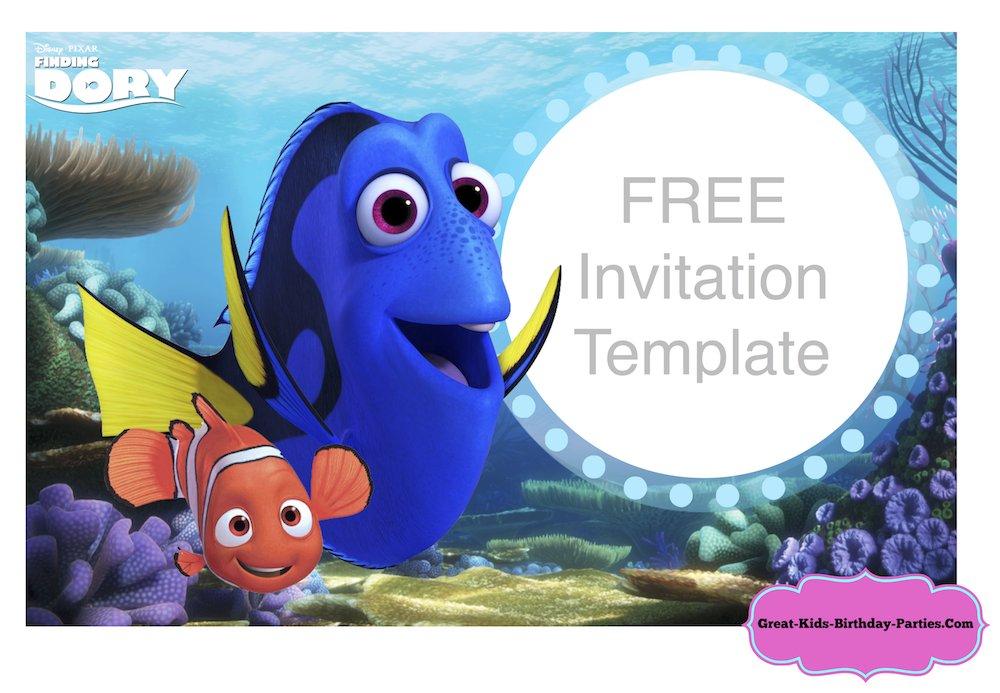 Festa a tema dory e nemo for Nemo cake template