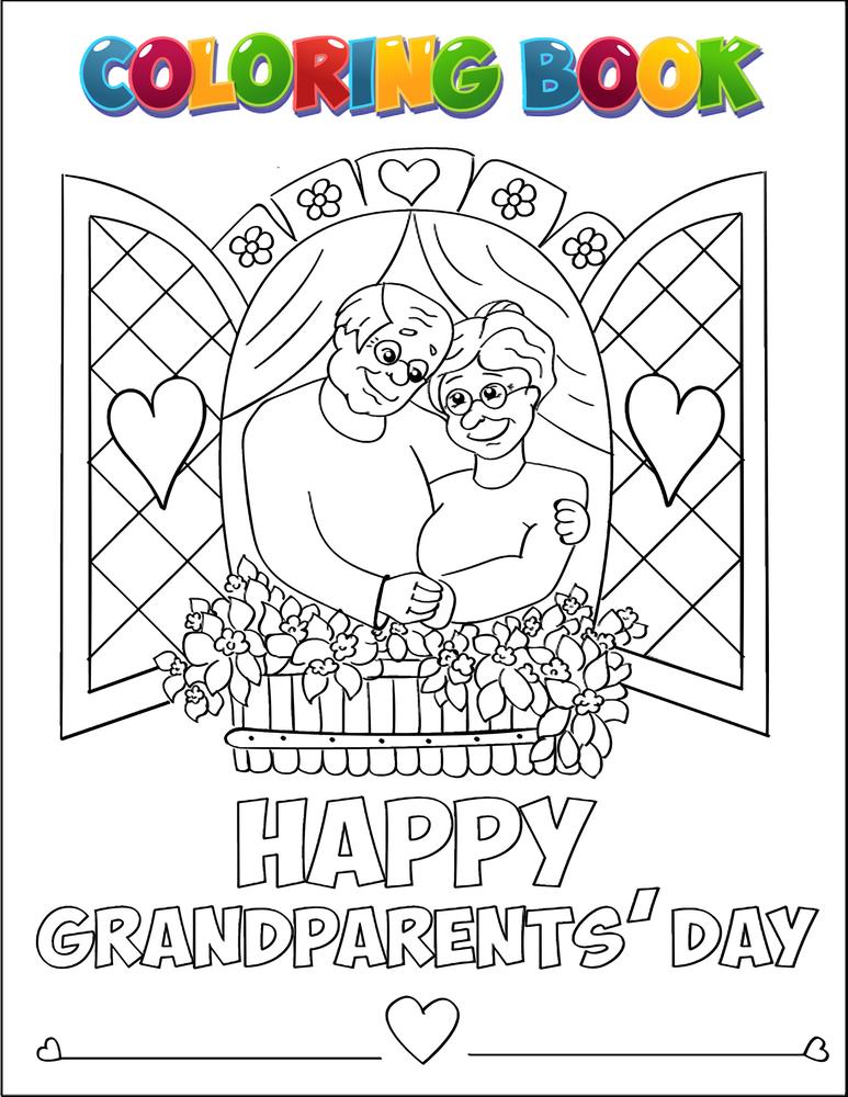 festa dei nonni biglietti auguri e disegni da colorare