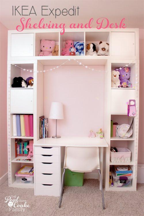 zona studio con Ikea Expedit