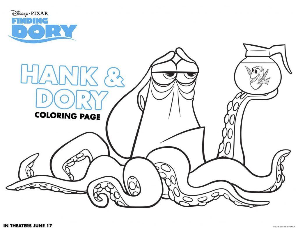 Disegni Da Colorare Dory E Nemo Dory E Hank Blogmamma It