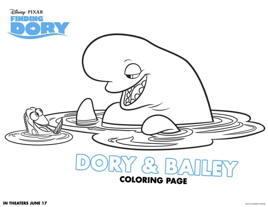 Disegni da colorare di dory e nemo dory e bailey for Nemo disegni da colorare