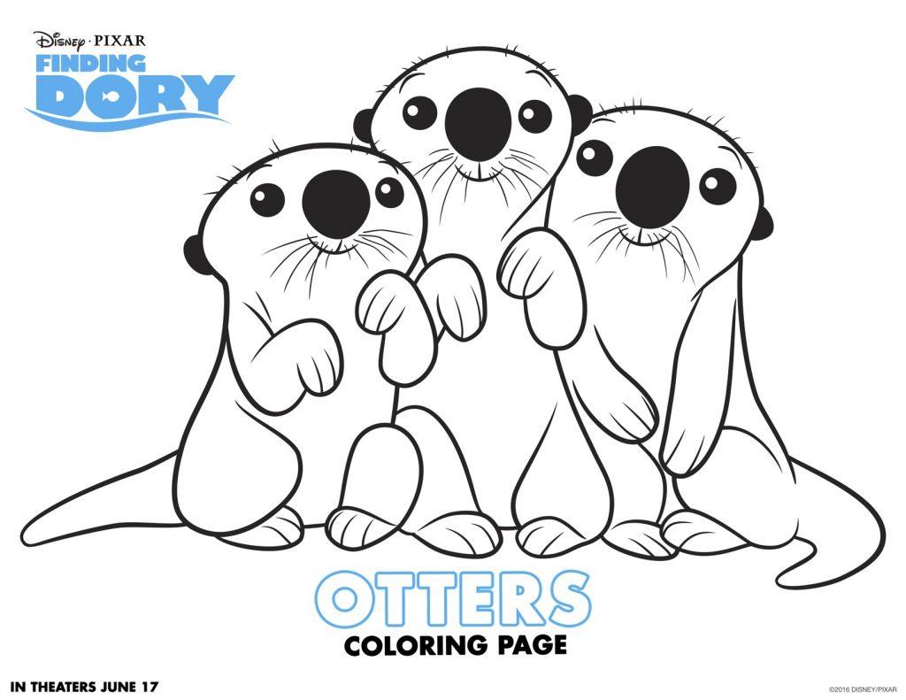 Disegni da colorare di dory e nemo otters for Nemo disegni da colorare
