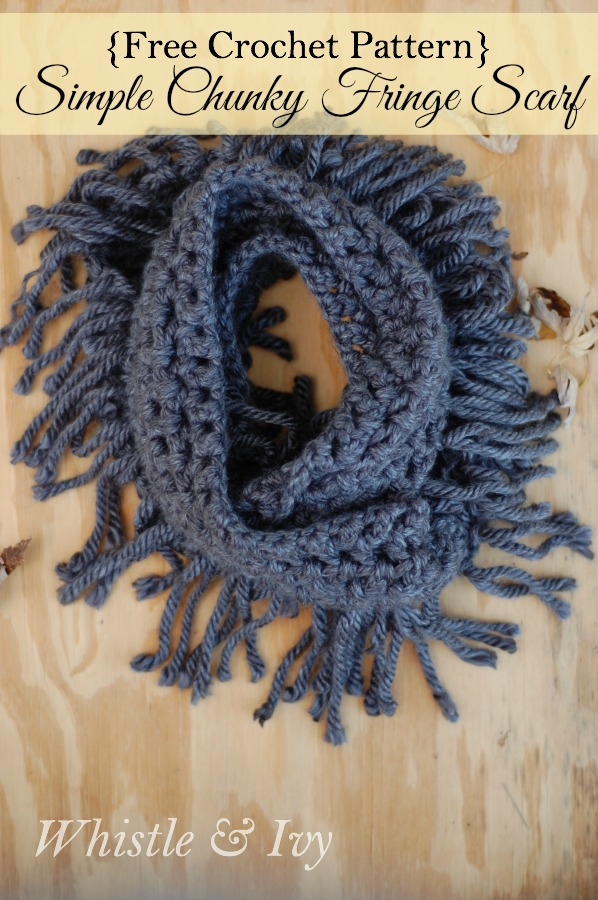 infinity scarf uncinetto