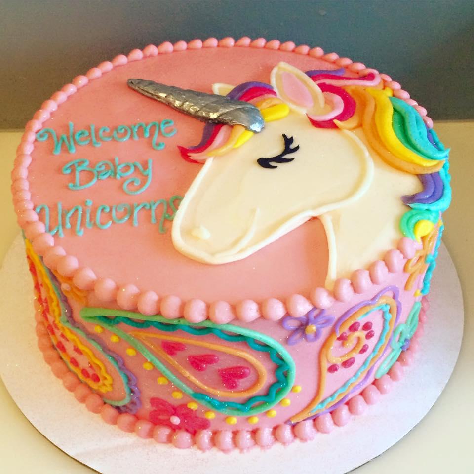 Festa a tema unicorno for Decorazioni torte 2d