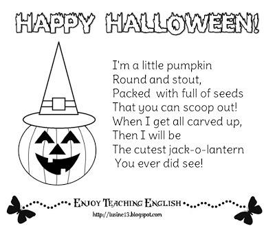 filastrocche di halloween in inglese