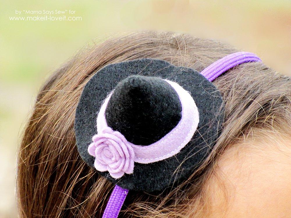 halloween  come fare un cappello da strega per bambine 6ce4015a8257