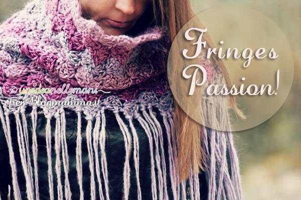 come aggiungere le frange a una infinity scarf