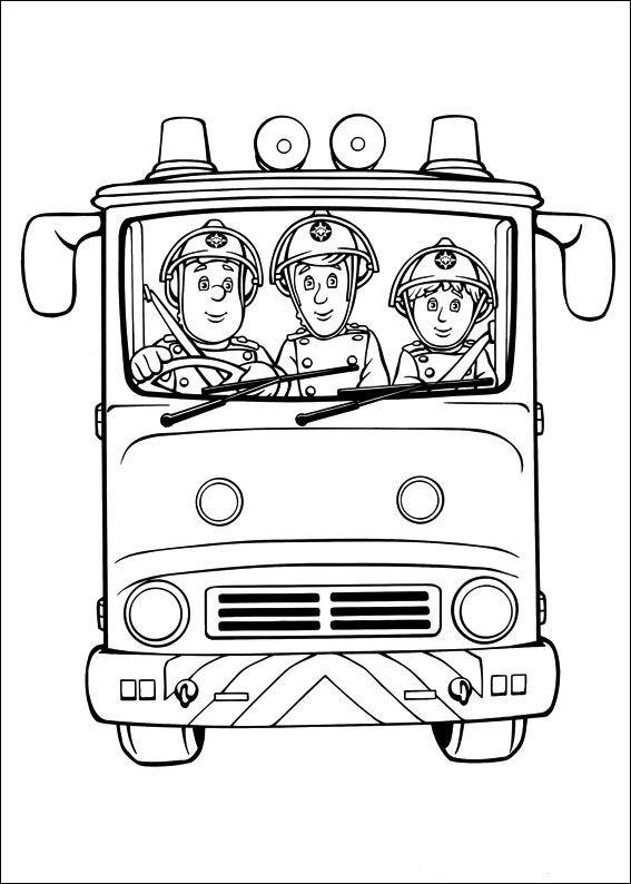 Disegni Da Colorare Di Sam Il Pompierela Squadra Sul Camion