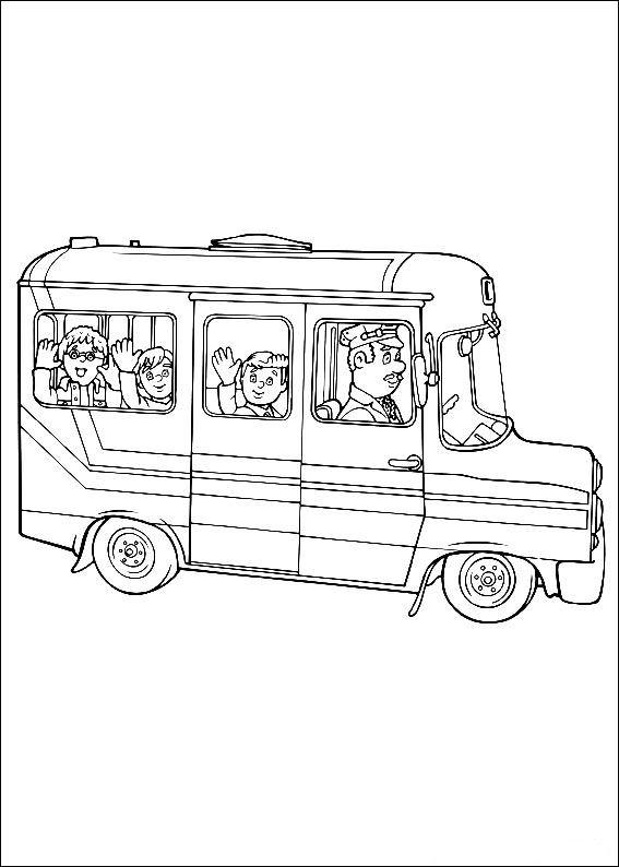 Disegni da colorare di sam il pompiere bambini pullman - Bambino samuel pagina da colorare ...
