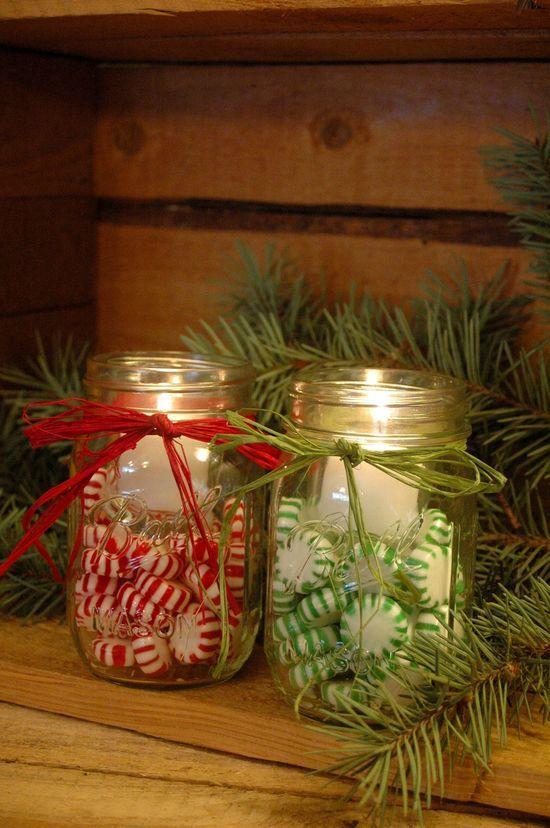 Très Lanterne di Natale fai da te con vasi di vetro riciclati  SK37