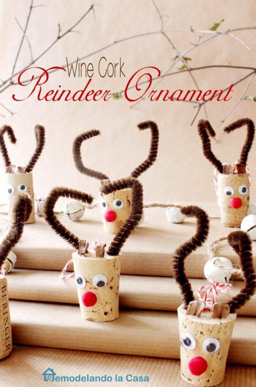 Molto Lavoretti di Natale con tappi di sughero da fare con i bambini  CB87