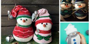 Come fare un pupazzo di neve con le calze spaiate