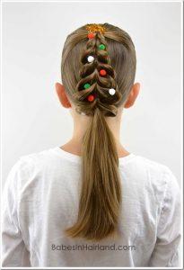 Acconciature bambina per recita di Natale_albero-di-natale