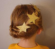 Acconciature bambina per recita di Natale_dettagli-con-stelle