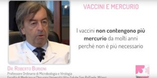 Mercurio e vaccini, intervista al Dr. Burioni [VIDEO]