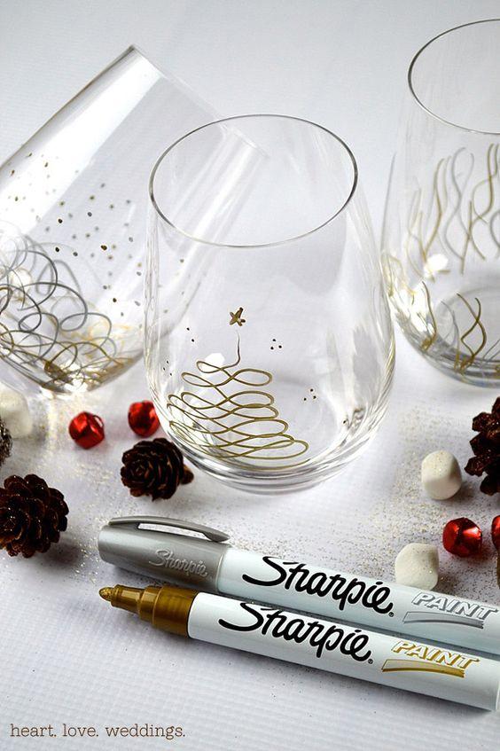 Come decorare i bicchieri per la tavola di natale idee - Disposizione bicchieri in tavola ...