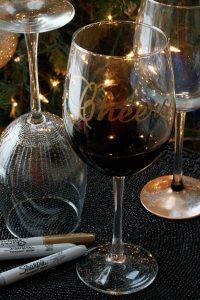 Come decorare i bicchieri per Natale_auguri