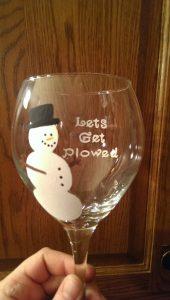 Come decorare i bicchieri per Natale_pupazzo-di-neve
