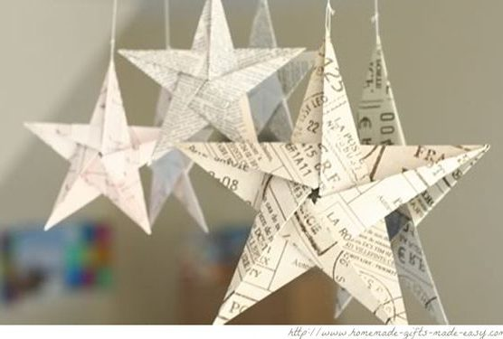 Addobbi e decorazioni di natale con le stelle idee fai da for Decorazioni di carta da appendere